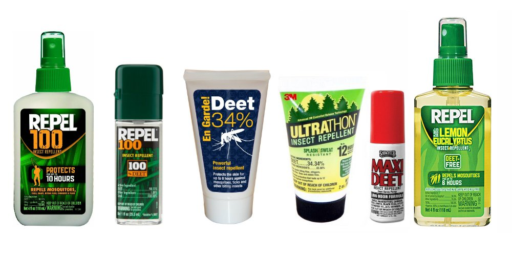 DEET insect repellents