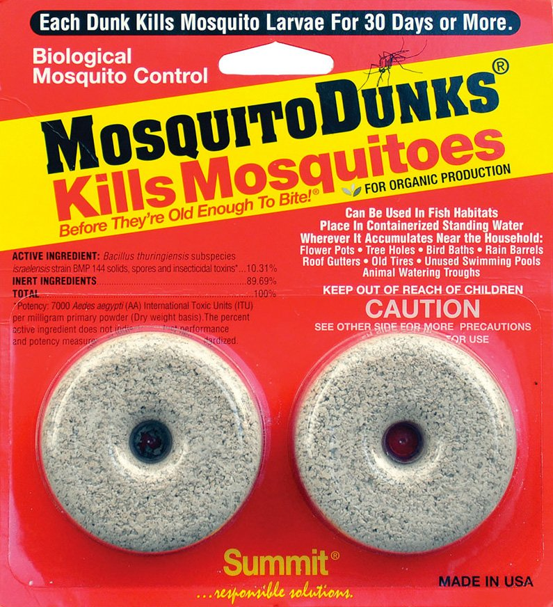 what are mosquito dunks and how they work insect cop. Black Bedroom Furniture Sets. Home Design Ideas