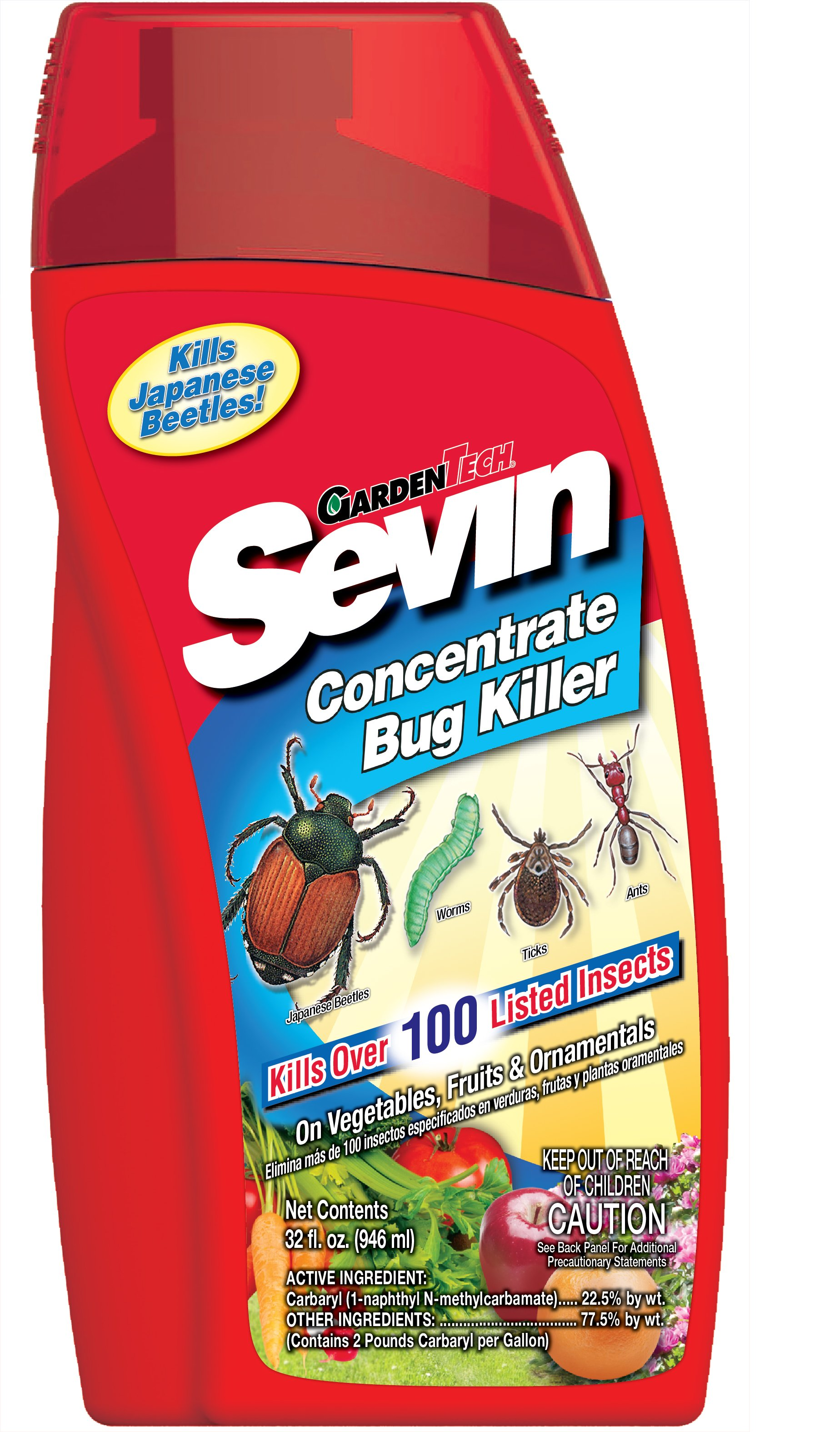 How do you view the usage information for Sevin liquid insecticide?