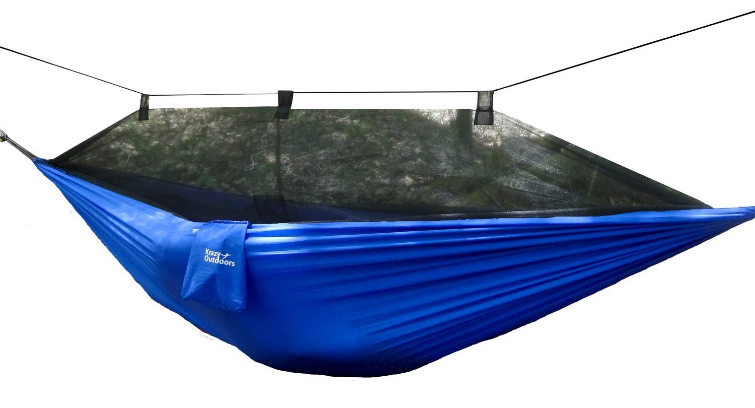86012b434a7 The Krazy Outdoor Company produces a top quality hammock mosquito net