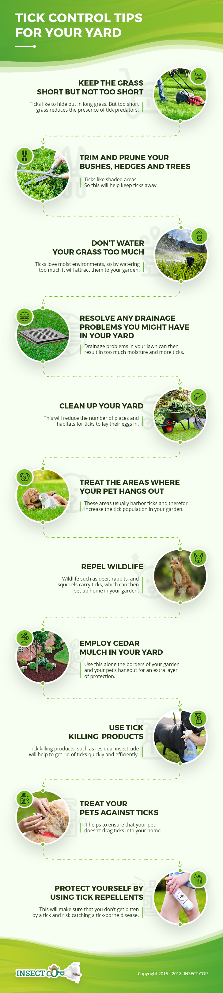 Tick control tips for yard