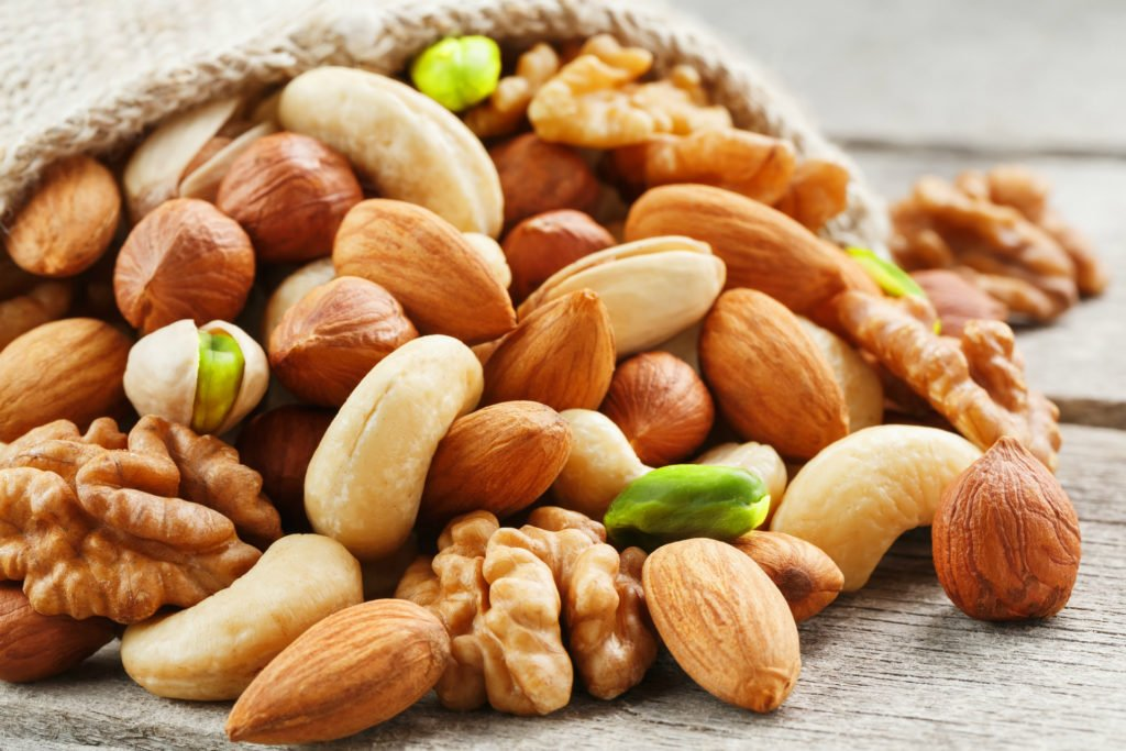 Mix of different nuts